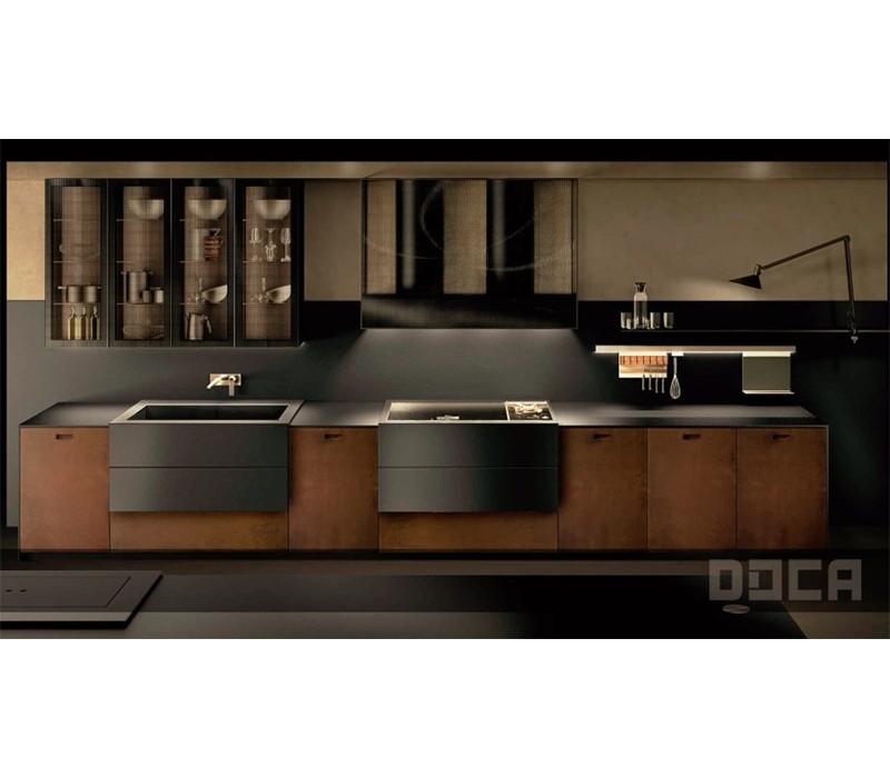 Fiora consola recta resina modelo fontana negro y lavabo - Muebles de resina para exterior ...