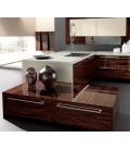 Astra mobiliario de cocina ebano poliester serie teknica