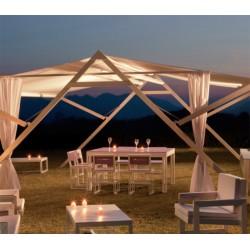 Kok Maison mesa rectangular de teka natural para exterior modelo roma