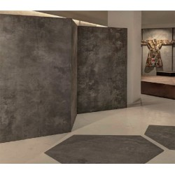 Living ceramics porcelanico cemento natural ceramico modelo beren dark grey